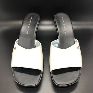 Tommy Hilfiger Marie White slides sandals 6.5